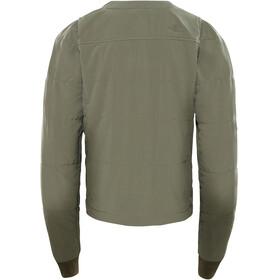The North Face Mountain Sweatshirt Collarless Full Zip Women New Taupe Green